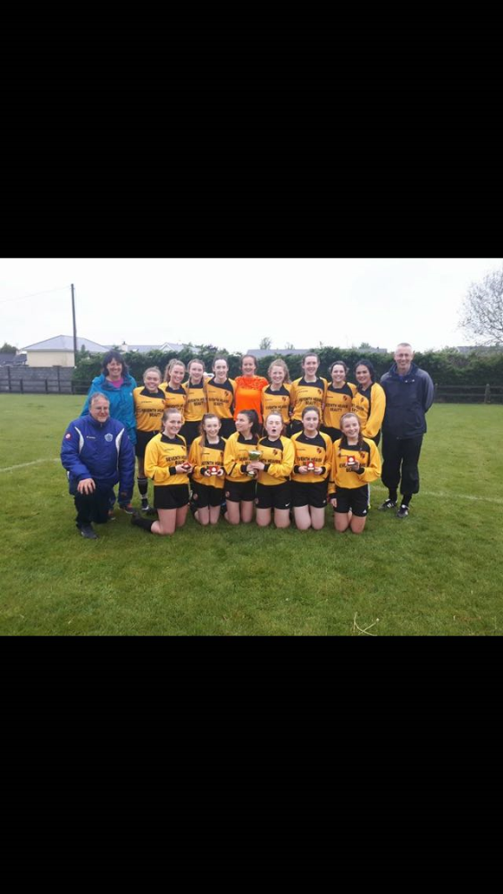 Aisling Annacotty U16 Girls are League Cup Winners for 2nd Straight Year